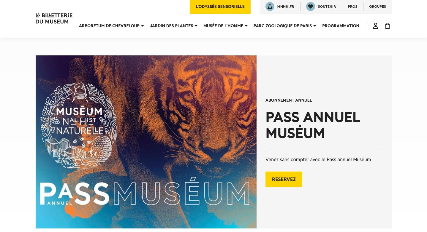 Muséum national d'Histoire naturelle – ticketing office