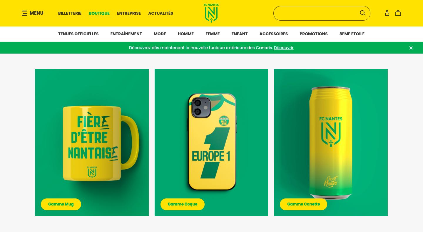 FC Nantes – boutique