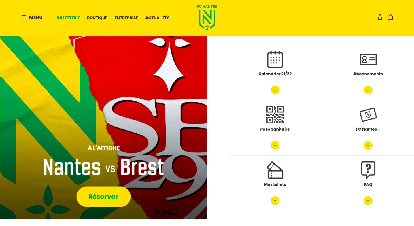 FC Nantes – ticketing system