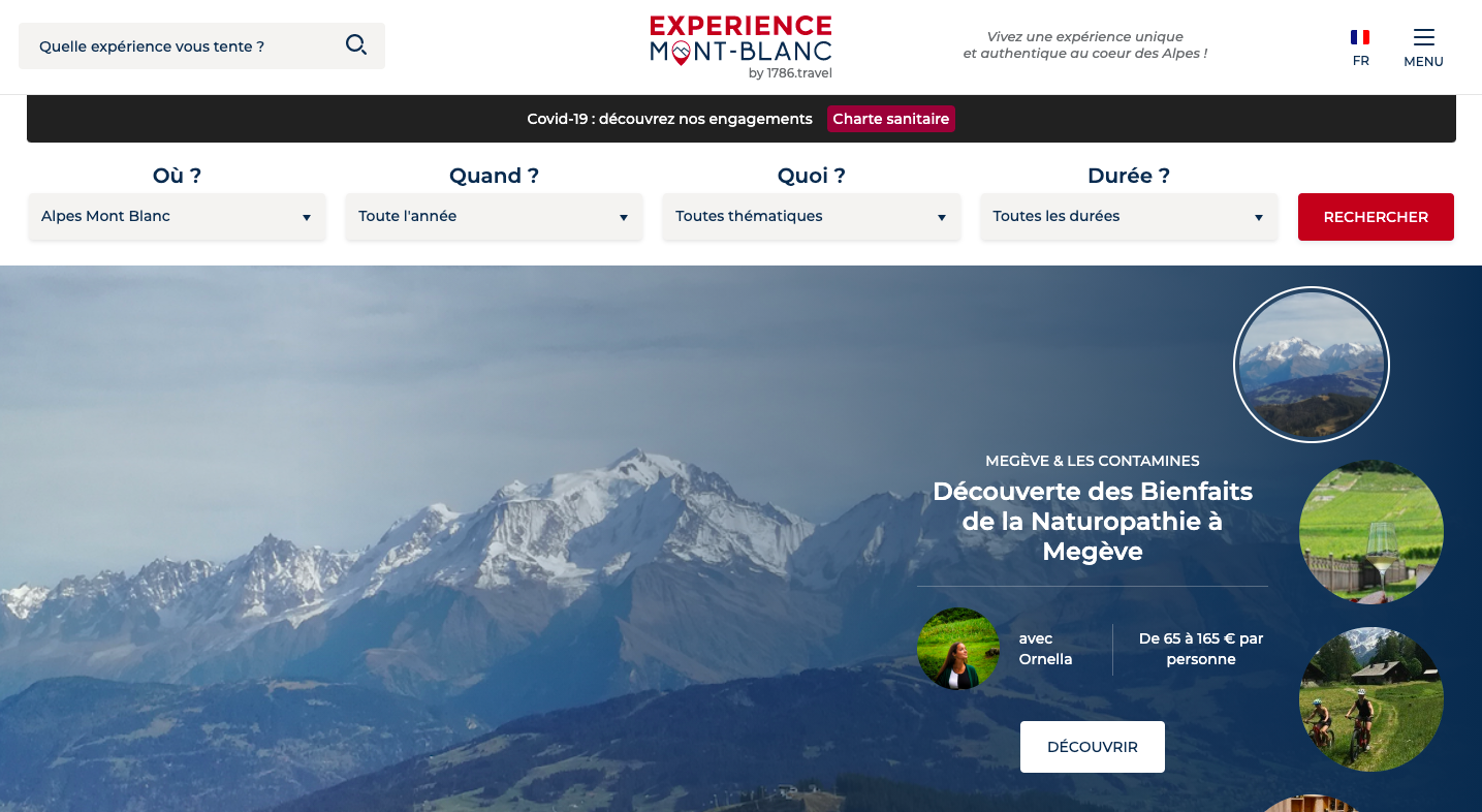 Experience Mont Blanc – booking system