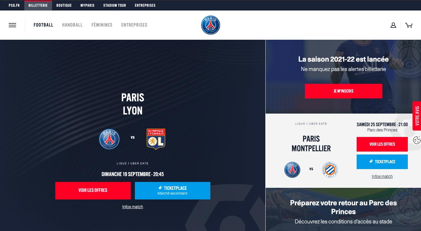 Paris Saint-Germain F.C. – ticketing service