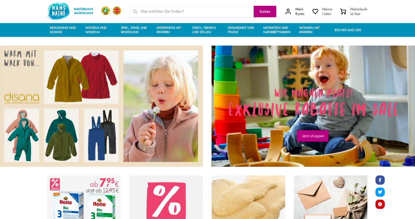Hans Natur – online store