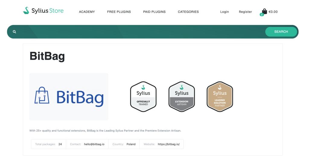 Sylius plugin store vendor information